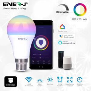 RGB Smart Bulb Wireless for Alexa Google Home WiFi App Remote Control Light B22
