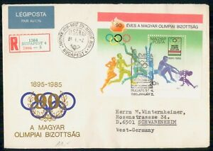 MayfairStamps Hungary 1985 90th Anniversary the Olympics Souvenir Sheet Olympics
