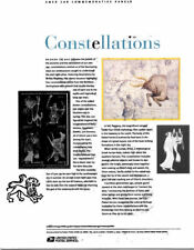 #750 37c Constellations, Leo, Lyra #3945-3948 USPS Commemorative Stamp Panel