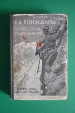 1931 MANUALE HOEPLI LA FOTOGRAFIA INSEGNATA PRATICAMENTE DI GESUALDO RUSSO
