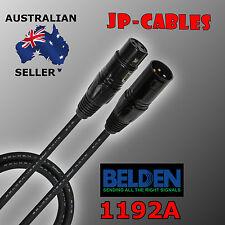 .5M - Belden Brilliance 1192A, Premium Quad XLR Microphone Cable - Made in U.S.A