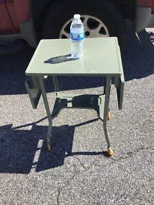 Vintage - Steampunk  Drop Leaf Typewriter Table Desk Metal Stand clean