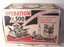 TOPPER DELUXE READING OPERATION X500 GIANT SPACE PLAYSET BOXED SHARP! 1960s