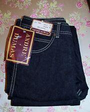 Vintage Rare Mens DeadStock Cotton Black Denim Andre Dumas Jeans Pants Bells Nwt