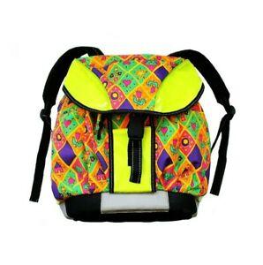 80s 90s LeChat vintage backpack waterproof rucksack 3M reflective festival rave