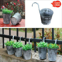 New Flower Pot Garden Hanging Balcony Plant Home Decor Metal Iron Potted Planter