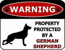 Warning Property Protected by A German Shepherd Dog Sign SP367