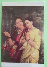Vintage Raja Ravi Varma SYRENDRI (DRAUPADI) story telling picture postcard 1970