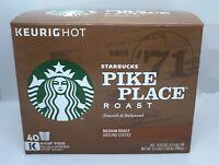 STARBUCKS COFFEE PIKE PLACE ROAST COFFEE KEURIG (40 K-CUP) NEW IN RETAIL BOX!