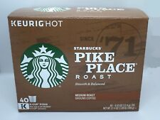 STARBUCKS COFFEE PIKE PLACE ROAST COFFEE KEURIG (40 K-CUP) NEW IN RETAIL BOX!