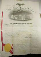 Orig. 1863 US Patent Screw Tang Handle Knife Gardner Shelburne Falls MA P1041L