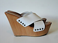 MOSSIMO {Size 8.5} White Wedge Platform High Heel Sandals EXCELLENT!