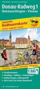 Radtourenkarte Donau-Radweg 01. Donaueschingen - Passau 1 : 50 000