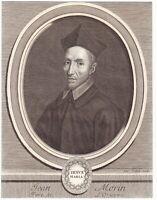 Portrait XVIIIe Jean Morin Congrégation de l'Oratoire Blois Jacques Lubin
