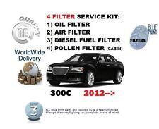 FOR CHRYSLER 300C 3.0DT 2012--> NEW OIL AIR FUEL POLLEN FILTER SET SERVICE KIT