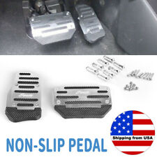 2X Silver Non-Slip Automatic Gas Brake Foot Pedal Pad Cover Car Accessories Kit