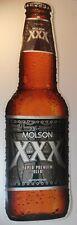 Molson XXX Super Premium (Canadian) Beer Bottle Shaped Cut-Out Metal Sign