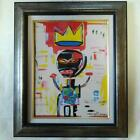 Used Jean Michel Basquiat Oil Painting Untitled 41cm 32cm Size Signed Rare