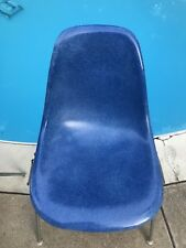 Rare Eames Medium Blue Herman Miller Side Shell Chair Vintage Summit