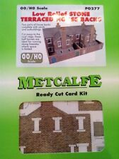 Metcalfe Kit PO277. Low Relief Stone Terraced House Backs. OO Scale.