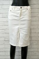 Gonna VERSACE JEANS COUTURE Vita Alta Donna Taglia 40 Skirt Woman Cotone Bianco