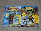 1990 Playmates TMNT Ninja Turtles Wacky Action Donatello & Leonardo MOC New Lot