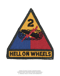 U.S. ARMY AUFNÄHER PATCH 2ND ARMORED DIVISION HELL ON WHEELS COLOR