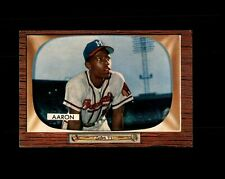 New listing 1955 BOWMAN #179 HANK AARON BRAVES NM to NM+