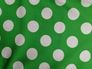 GREEN AND WHITE SPOT LYCRA 50cm
