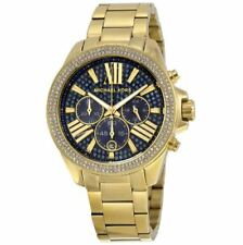 Michael Kors MK6291 Wren Crystal Blue Dial Gold Tone Chronograph Women's Watch