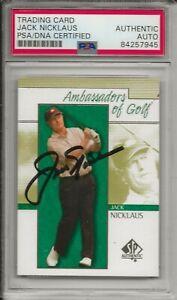 Jack Nicklaus Autographed Hand Signed Upper Deck Ambassadors of Golf PSA