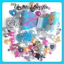 Disney Cinderalla Theme Resin Bow Gems & pearls flatbacks for decoden crafts #3
