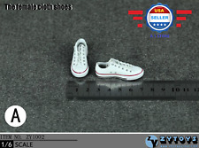 1/6 scale Converse Chuck Lace Up WHITE sneaker shoes for 12'' Male figure