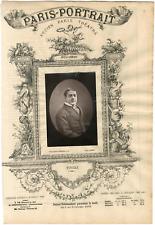 Lemercier, Paris-Portrait, Lucien Fugère (1848-1935), baryton français Vintage a