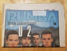 Finnish Rumba Magazine 10 / 1987 : U2 Cover