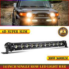 14 inch Single Row LED Light Bar 6D Ultra-thin Spot Beam 300W 12V/24V UTV Pickup