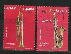 (L010A) ESPAÑA 2010 - TROMPETA - SAXO - EDIFIL 4549 - 4550