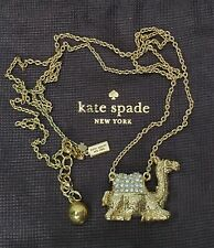EUC Signed Kate Spade Queen of the Nile Pave Rhinestone Camel Pendant Necklace
