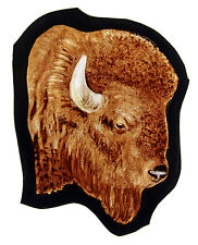 Bison stained glass fragment, kilnfired, bison suncatcher, bison glass painting