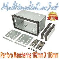 Kit Universale Montaggio Autoradio Radio Doppio Din Plancia Gabbia Carrello 3509