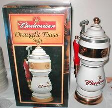 2001 ANHEUSER BUSCH BUDWEISER DRAUGHT TOWER STEIN WHITE