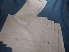 Vintage LINEN PLACEMATS with NAPKINS HAND FINISHED SET 6 of Each