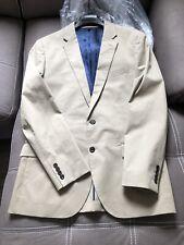J Crew Ludlow Larusmiani Tessuti Stretch Cotton Suit Jacket Blazer 42R Khaki