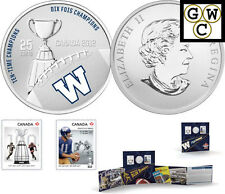 2012 'Winnipeg Blue Bombers' CFL Colorized 25-Cent Coin and Stamp Set (13044)