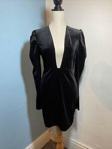 Black SIZE 8 Dress Velvet with Sparkle. Ladies Party Dress. Ladies Christmas