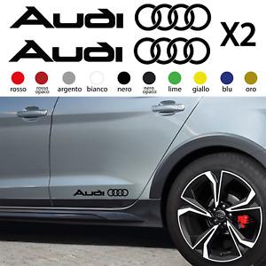Adesivi AUDI per FIANCATA gonna A1 A3 A4 A5 A6 Q2 Q3 Q5 Q7 SLINE tuning stickers