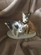 Germany Karl ENS Porcelain Pair Of French Bulldog Dogs Animal Figurine