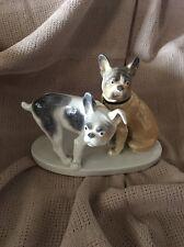 Germany Karl ENS Porcelain Pair Of French Bulldog Dogs Animal Figurine