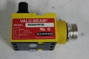 Banner SM2A91RFQD VALU-BEAM Glass Fiber Optic Receiver New