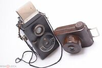 BAMSOUL LONGCHAMP & RARE ELIOT V.P. TWIN RED BAKELITE CAMERA